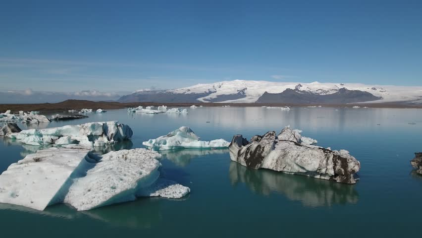 this video contains aerial footage from one of the most spectacular places in Iceland - Jokulsarlon glacier lagoon, the deepest lake in Iceland. It is a very stable, 4K resolution shoot taken by drone