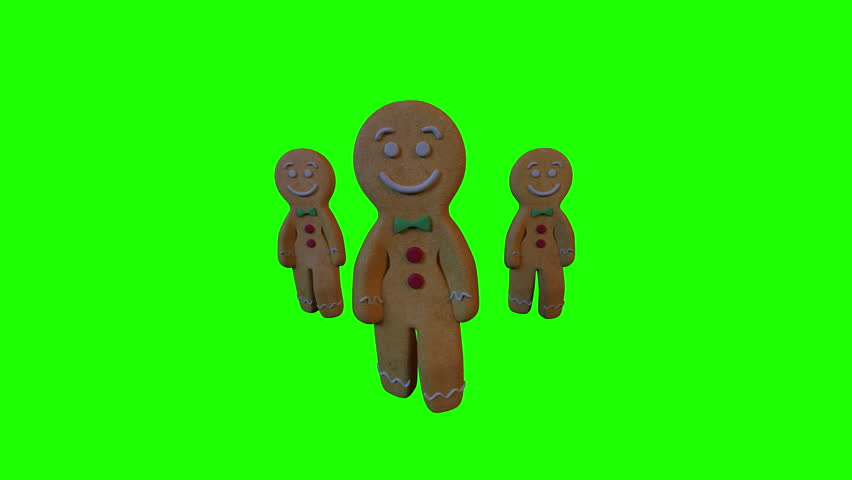 Gingerbread Dancers 3D animation of funny, hot and sweet cookie boys dancing for holiday and kid event, show, VJ, party, music, website, banner, dvd. Green background | Shutterstock HD Video #30798046
