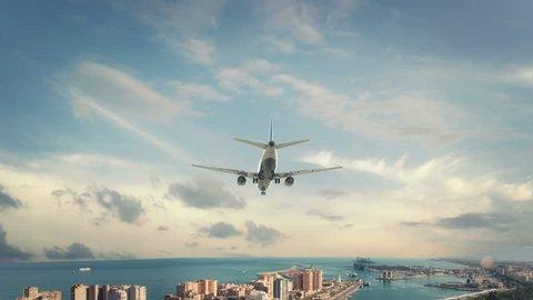 Airplane Landing Spain Malaga