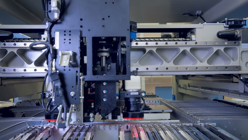 Motheboard manufacturing line. Printed circuit board production. 4K.   Shutterstock HD Video #30874474