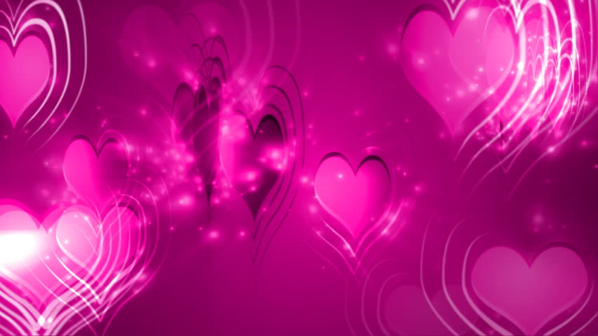 Happy Valentines Day 3D Hearts Background Loop With Text Stock ...