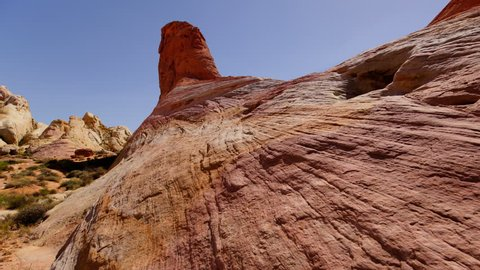 Valley of Fire Sandstone Rock Formation in Nevada Desert