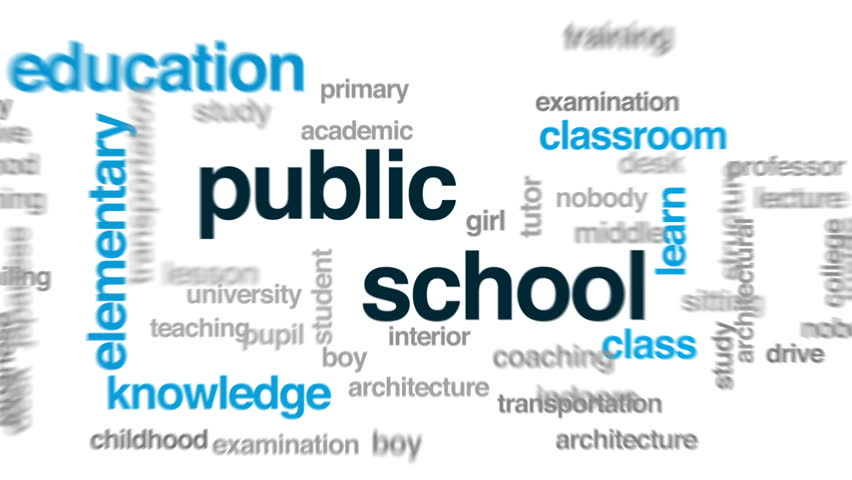 Public school animated word cloud, text design animation.   Shutterstock HD Video #30992416