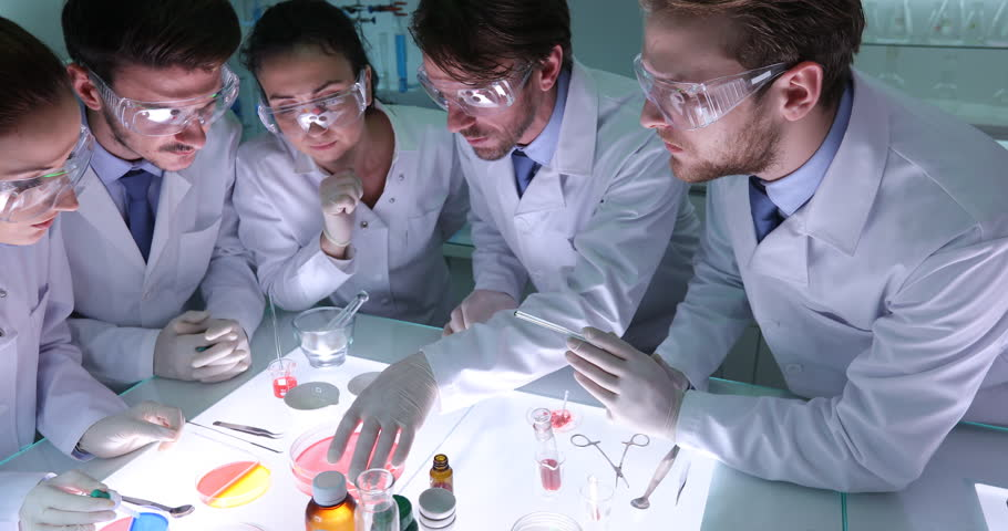 Forensics Researchers Collaboration for Carrying Out Studies Laboratory Activity | Shutterstock HD Video #30999214