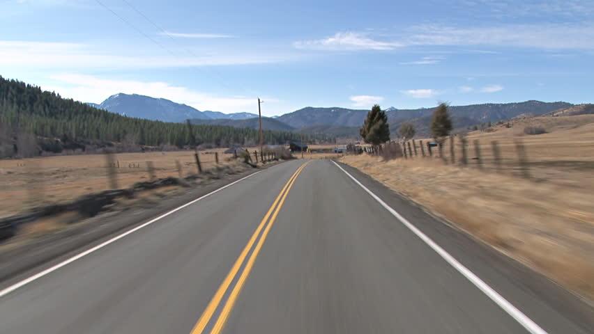 Driving towards the Trinity Siskiyou Mountains westward on Gazelle-Callahan Road