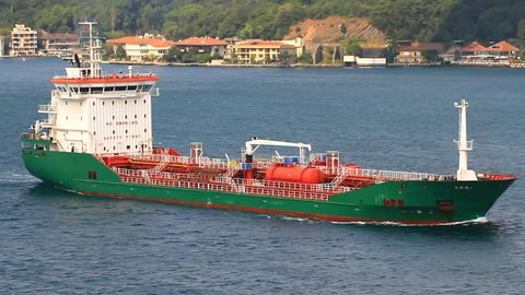 Chemical tanker with tanks and special coating allowing she to carry vegetable oils, molasses, inorganic and organic chemicals such as methanol, xylene and ethylene glycol and other specialized cargos