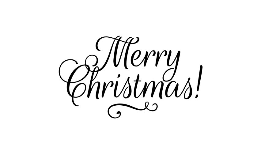 """Writing black ribbon Text """"Merry Christmas"""" over white paper background"""