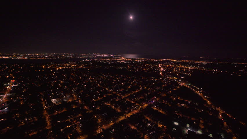 Flying over Staten Island at night | Shutterstock HD Video #31169203