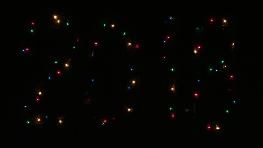 Festive New Year's illumination, the year 2018   Shutterstock HD Video #31194904