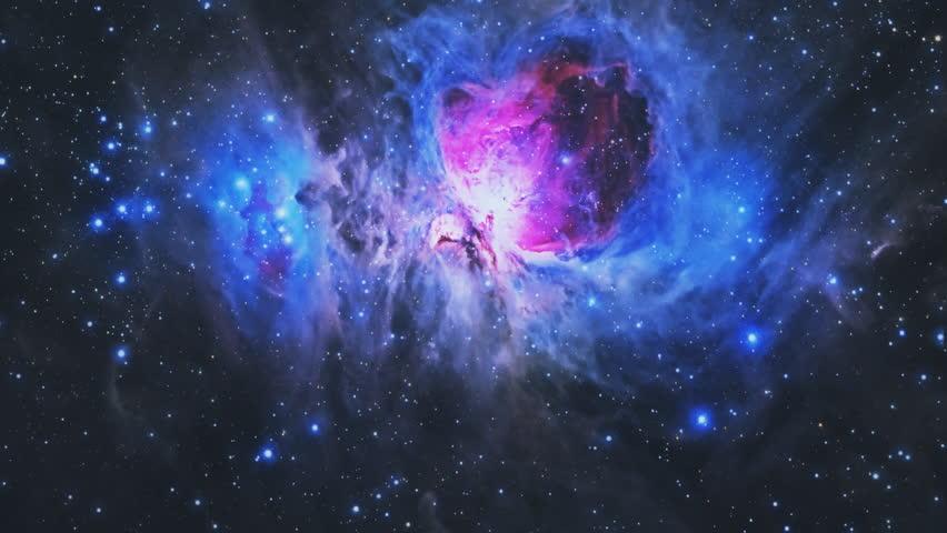 Flight into the Orion Nebula. 4K UHD animation rendered at 16-bit color depth.