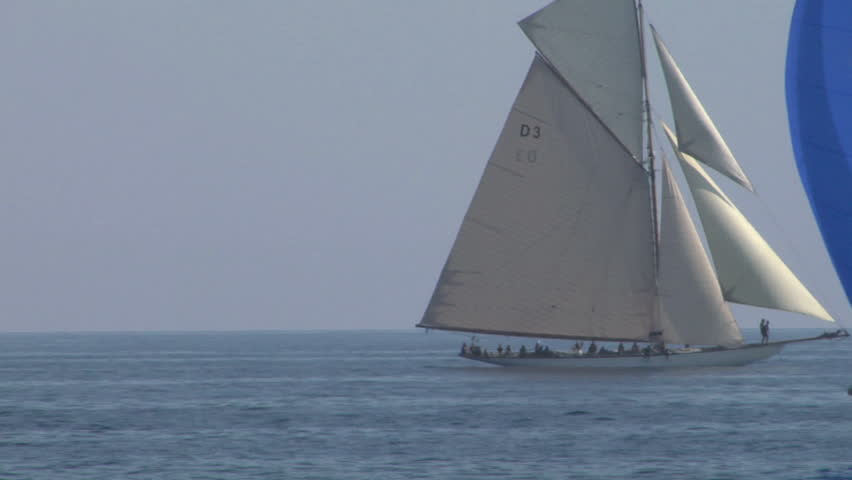 "IMPERIA, ITALY: Old sailing boat in Mediterranean Sea during the regatta ""Vele d'epoca"" on 5 september 2012, Imperia (Italy)"