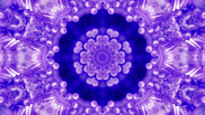 Weird wiggly neon blue kaleidoscope