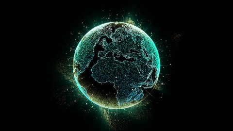 Holographic Earth Globe for user interface head up display background computer desktop screen display