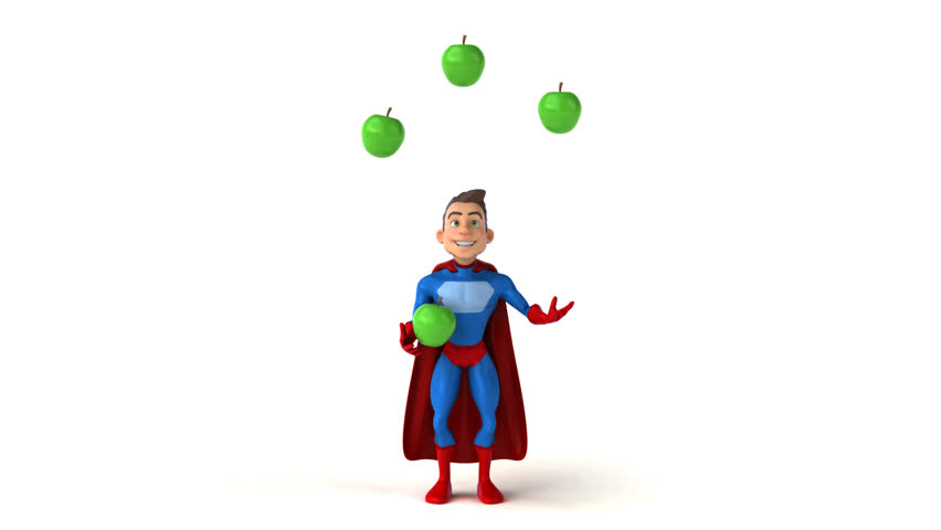 Fun superhero - 3D Animation   Shutterstock HD Video #31322203