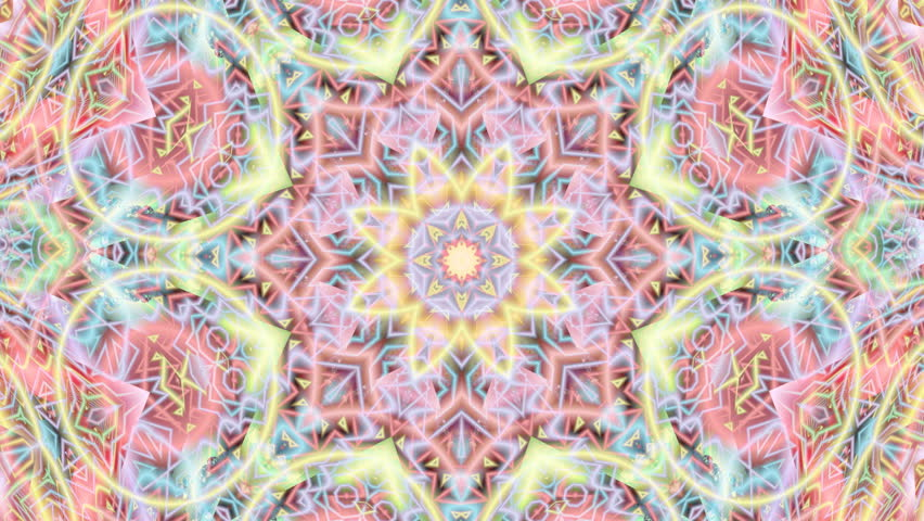 Pastel Complex Star Mandala Composition Stock Footage Video 100