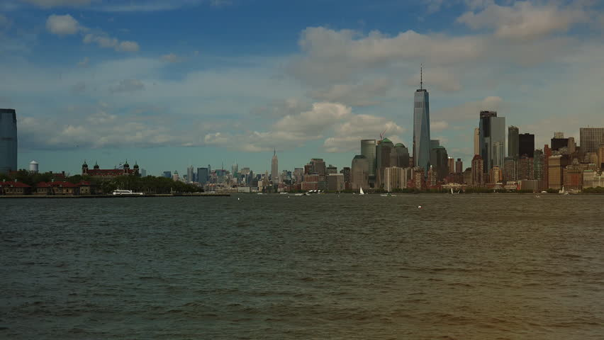 Panoramic view New York City, real time, ultra hd 4k | Shutterstock HD Video #31416223