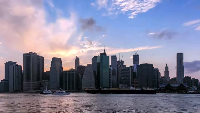 Night fall timelapse of Lower Manhattan in New York - USA | Shutterstock HD Video #3144838