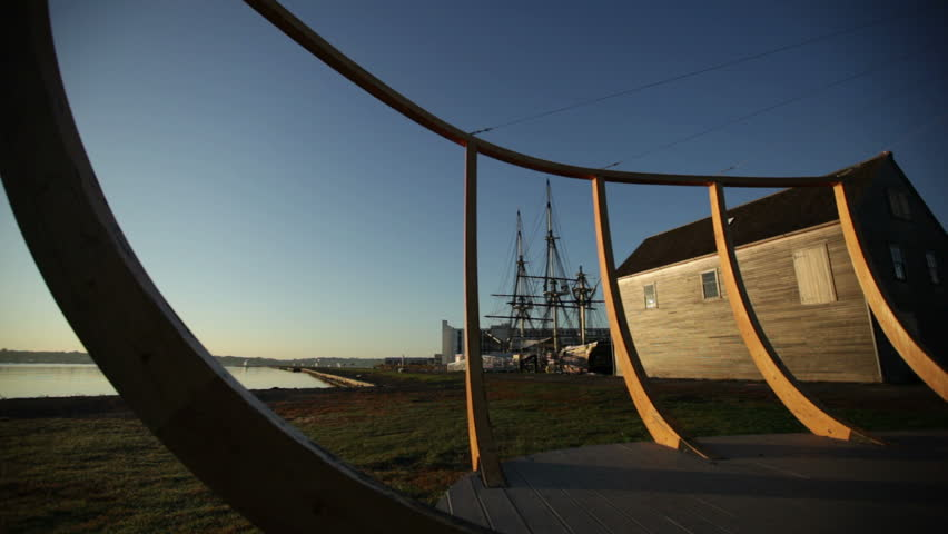 Salem maritime park at sunrise