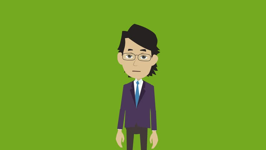 Cartoon Character Young Man In Stock Footage Video 100 Royalty