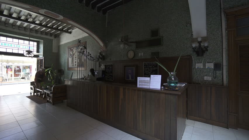 MEXICO CITY, MEXICO - MAY 25, 2017: Panoramic view of wooden reception in colonial house hotel with rich decoration | Shutterstock HD Video #31474573