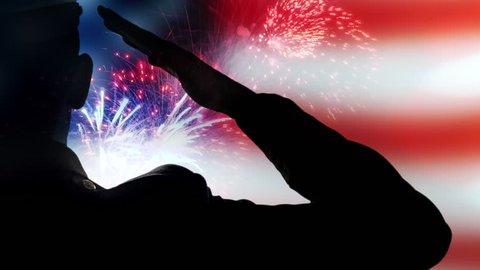4K American Flag Fireworks, Patriotic USA 911, Army Liberty Salute Memorial