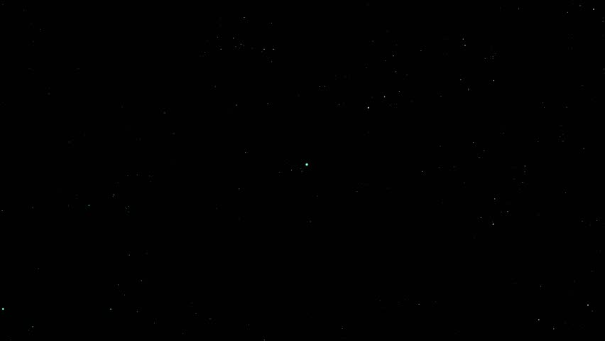 flickering stars and constellations, moving animation towards the stars on a black background, ready for overlay, perfect for film, digital composition, projection mapping.