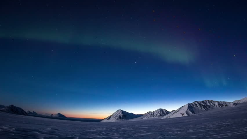 Aurora Borealis in south Spitsbergen. Around the fjord Hornsund.. | Shutterstock HD Video #31546303