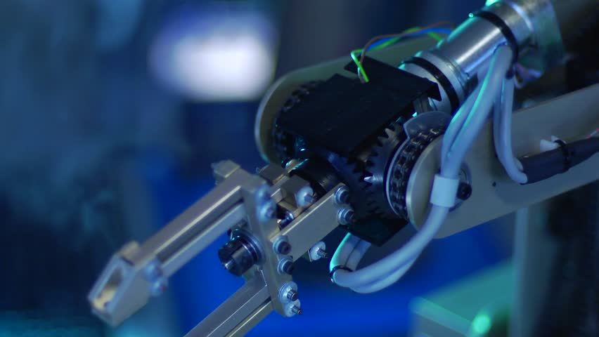 Robotic Arm with Gears - Slow Motion | Shutterstock HD Video #3165463