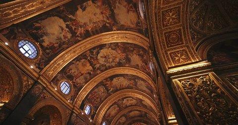 VALLETTA, MALTA - JUNE 15: St John's Co-Cathedral in Valetta Malta 4k - Video