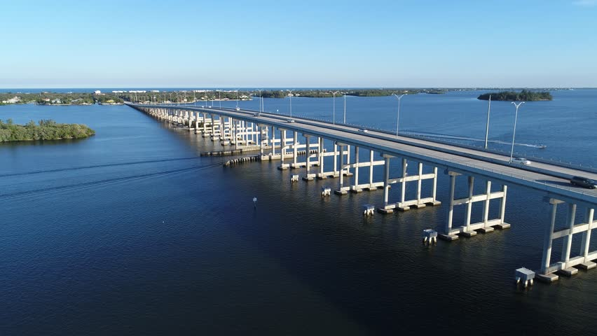 Intercoastal bridge in Vero Beach Florida