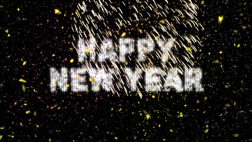 20 Second New Year's Eve Countdown features flashing strobe numerals and text with confetti falling through colorful lights and exploding fireworks.  Length equal approx one minute.