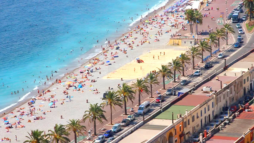 Beach in Nice, French Riviera