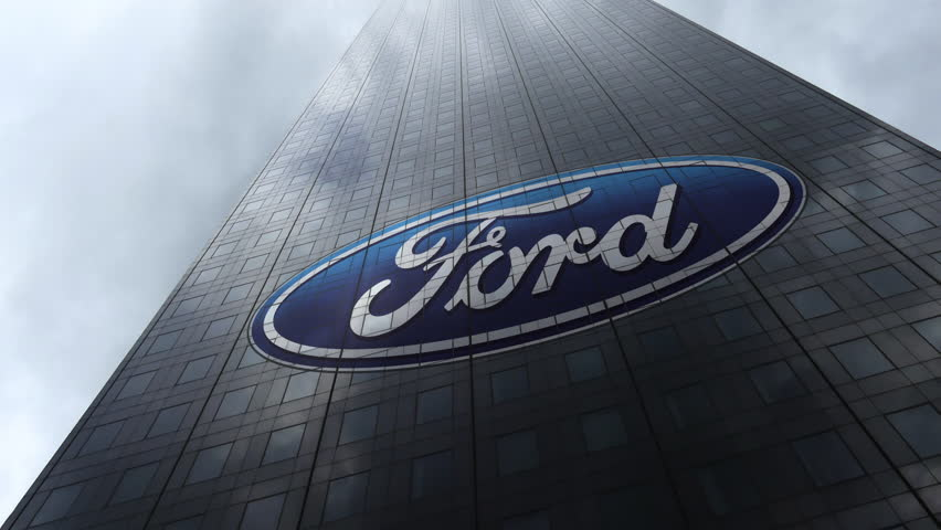 Ford Motor Company Logo On Stock Footage Video (100% ...