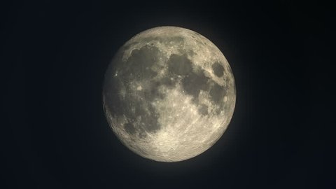 Phases of the moon from new moon to crescent, full, waxing and waning gibbous - time lapse loopable