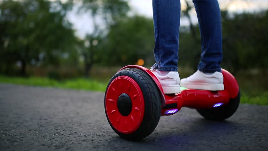 Close Up of Dual Wheel Self Balancing Electric Skateboard Smart | Shutterstock HD Video #31768003