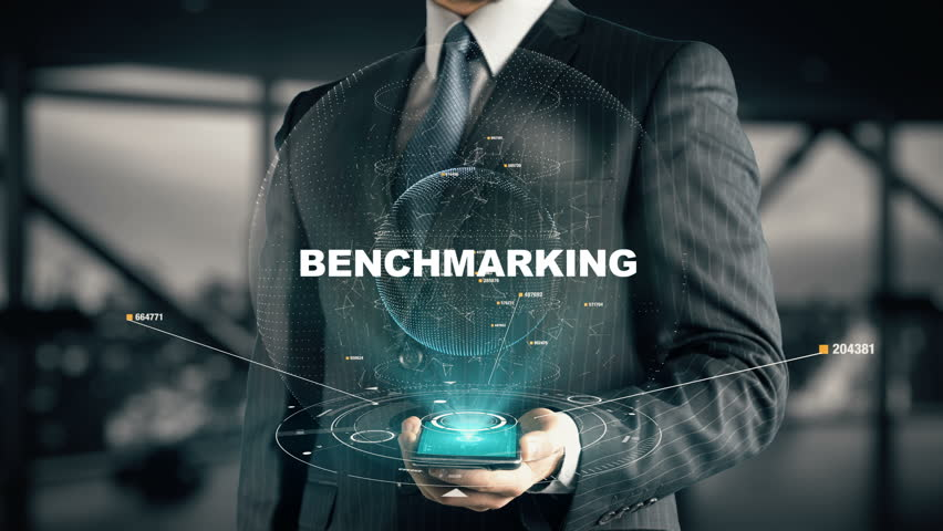 Businessman with Benchmarking