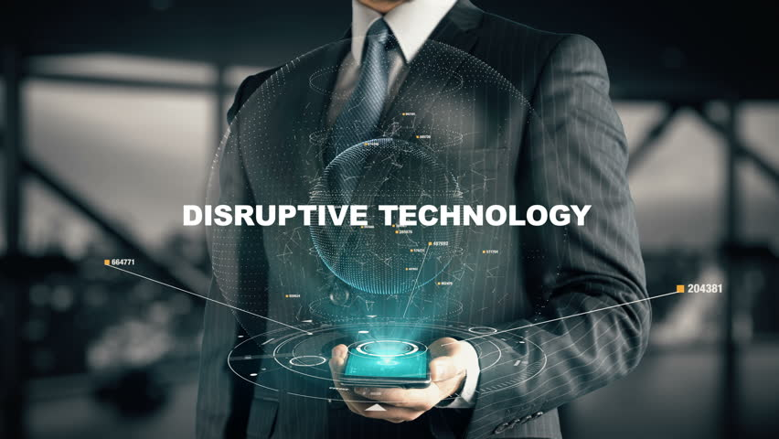 Businessman with Disruptive Technology