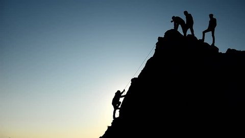 unity, draw and team spirit & rock climbing struggle