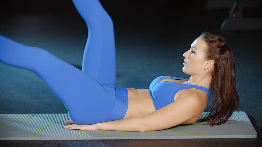 Sexy Female Athlete Doing Sit Ups Stock Footage Video 100 Royalty Free 31807903 Shutterstock