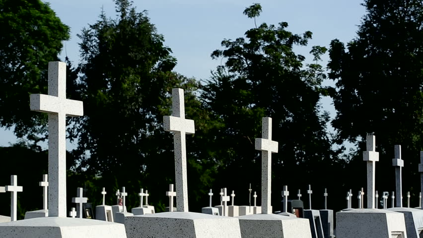 Cemetery cross shot | Shutterstock HD Video #31825633