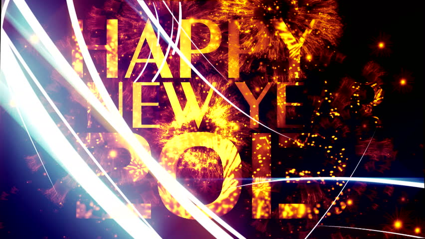 """Happy New year text animation ( Series 5 - Version from 1 to 6 ) +"""" Thing Different """"+ """" You can find every week new Footage """"+"""" Have a look at the other Footage series """" + [ Merry Christmas, 2013 ]"""