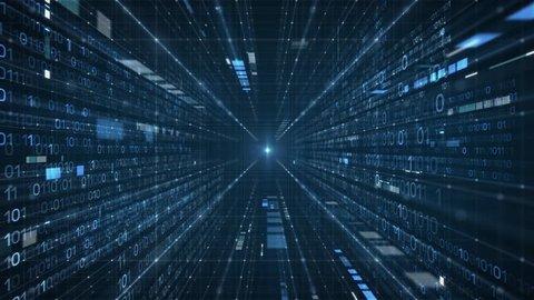 Data Stream Tunnel into Light