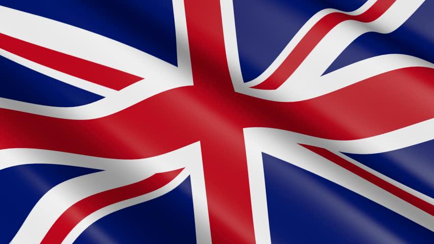 Flag of Great Britain / United Kingdom (seamless loop)