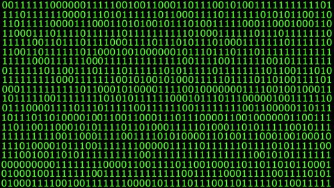 binary code wall animation