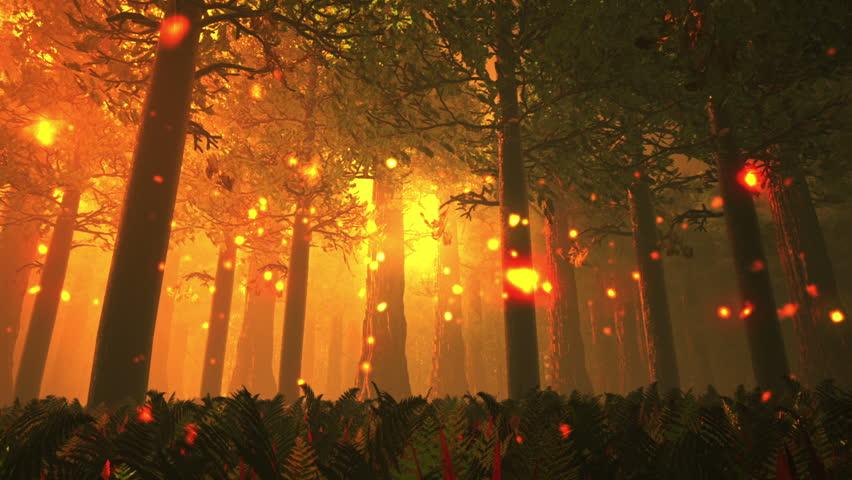 Deep Forest Fairy Tale Scene 3D render
