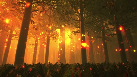 Deep Forest Fairy Tale Scene 3D render