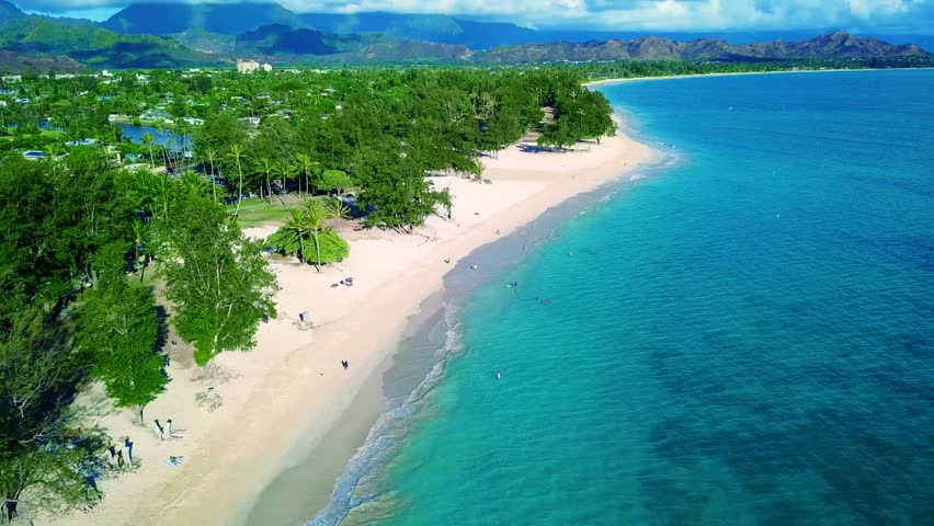 Aerial View Of Kailua Beach Stock Footage Video 100 Royalty Free 31958743 Shutterstock