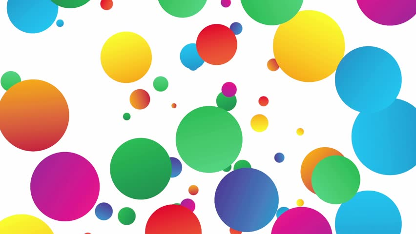 Colorful Circles Falling Down On Stock Footage Video (100