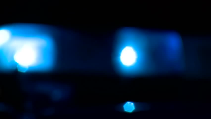 Defocused Police Light At The Stock Footage Video 100