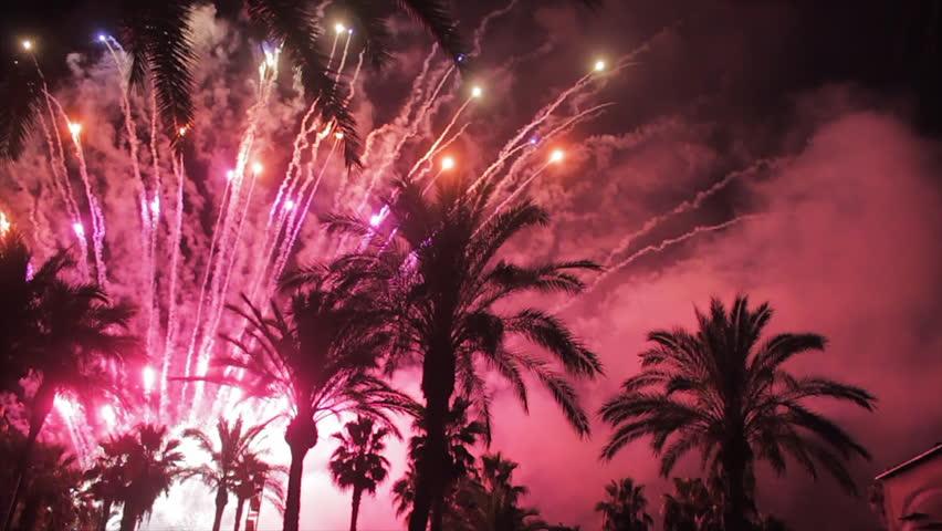 Fireworks multiple. Firework. Colorful fireworks atn holiday night
